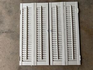 VINTAGE WOODEN WINDOW SHUTTERS - VERY NICE CONDITION - 4 SETS AVAILABLE