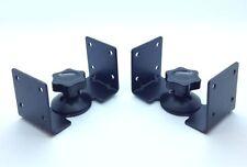 Black Speaker Brackets for HIFI Surround Sound Speakers Steel Metal Wall Ceiling