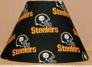 Pittsburgh Steelers FABRIC LAMPSHADE  NFL FOOTBALL SPORTS Handmade TEAM