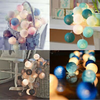 20 LEDs Cotton Ball USB LED String Christmas Wedding Home Party Fairy Lights KT