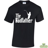 The Rodfather Funny Fishing T-Shirt Fisherman Gift