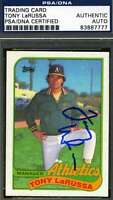 TONY LARUSSA 1989 TOPPS PSA/DNA SIGNED ORIGINAL AUTHENTIC AUTOGRAPH