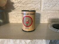 RAre Vintage Imperial Refineries Motor Oil Can Coin Bank Indian Graphics