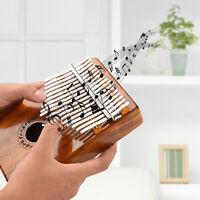 Musical 17 Keys EQ Kalimba Solid Acacia Thumb Piano Electric Pickup + Bag Cable