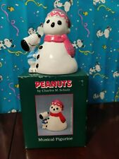 Snoopy Musical Figurine By Willitts Mint In Box Rare!