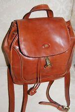 THE BRIDGE brown leather backpack rucksack style bag.$650