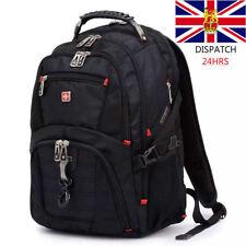 """17"""" Original Waterproof Swiss Gear Men Travel Bags Macbook Laptop Hike Backpack"""