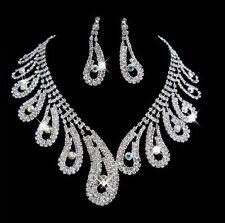 BRIDAL corrispondenza Collana & Orecchino Set Prom gioielli da sposa partito occasionali