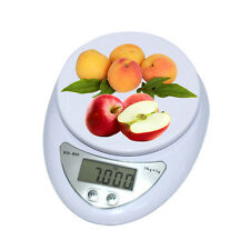 Digital Kitchen Scale Compact Diet Food 5KG 11LBS x 1g w/ Bowl Electronic Weight