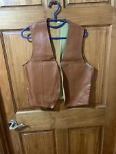 RARE Waylon Jennings faux leather 70's vest-shirt LP collectable