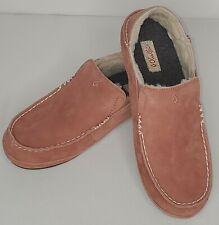 Olukai Women's Nohea Slipper, Size 8, Leather Upper, Shearling Liner Cedarwood