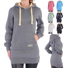FINCHGIRL Maxi-Hoodie Restposten Kapuzen-Sweatshirt lang Pullover Kleid Hoody