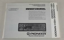 Manuale di istruzioni/Owners Manual Autoradio PIONEER KEH m4500/vai m2000