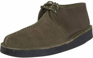 Men's Shoes Clarks Originals DESERT TREK Suede Lace Up Boots 54752 OLIVE COMBI