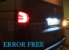 Vw t5 Transporteur DEL Xenon Ice White Number Plate Light Bulbs Error Free Caddy