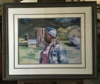 Framed Limited Art Print signed Ivey Hayes 'Sister Earline' # 603/700 1990-91