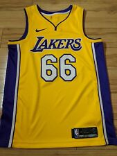 Andrew Bogut 2017-18 Los Angeles Lakers Official Nike Icon NBA Jersey - medium