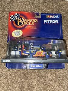 Winners Circle Pit Row Series Kenny Wallace #81 Yellow/blue Ford Taurus W/driver