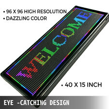 P10 40x15 inch Full Color LED Sign Programmable Scrolling Message Display Banner