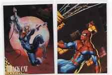 1X 1995 Fleer Ultra BLACK CAT Promo SAMPLE Prototype SPIDER MAN Golden Web
