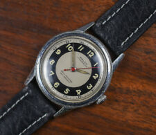 Vintage RALCO Manual Wind Tre Tacche Step Case Tuxedo Dial Men's Watch Leather
