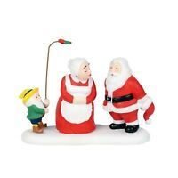 A Christmas Kiss Dept 56 North Pole Village 6000629 santa mrs clause city snow A