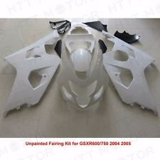 Unpainted Drilled ABS Bodywork Fairing Kit for SUZUKI GSXR600 750 2004 05 SET
