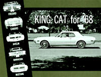 1968 Mercury Cougar Versus Camaro, Friebird,Javelin Barracuda Mustang on CD MP4