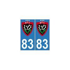 83 RCT toulon rugby trois 3 étoiles autocollant plaque europe arrondis