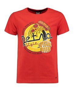 Herren T-Shirt Hailys Men Pizza Motiv Rot Gr. S - XXL