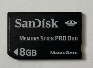SANDISK 8GB MEMORY STICK PRO DUO FOR SONY PSP - UK SELLER