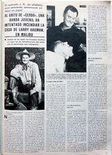 LARRY HAGMAN (JR DALLAS) =  1 page 1981  Spanish CLIPPING !!! COUPURE DE PRESSE