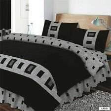 4Pieces Complete Bed Sets Duvet Cover Fitted Or ValenceSheet,single,double,king