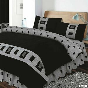 4 Pieces Complete Bed Sets Duvet Cover Fitted Sheets, single, double, king sizes