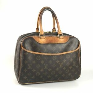100% authentic Louis Vuitton Monogram Deauville M47270 bag used 1437-12Z5