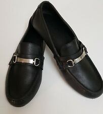 Cole Haan Mens Black Leather Loafers Size 9