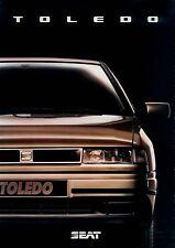 Seat Toledo folleto 9 91 09.91.110 brochure 1991 auto turismos auto folleto España