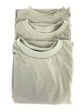 3 Pack Tan T-Shirt, SMALL Moisture Wicking Polyester Army Shirt, Military DSCP