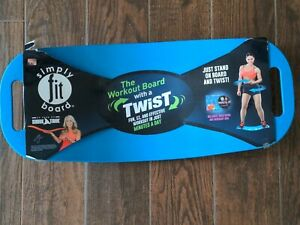 Simply FIT Balance Board With A Twist As Seen on TV Shark Tank Blue