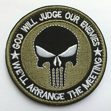Punisher Skull USA Military Army Tactical Morale Desert Badge Emblem OPS Patch