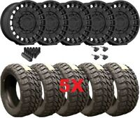 FUEL MILITIA BLACK WHEELS RIMS TIRES 35 12.50 20 MUD MT GLADIATOR WRANGLER RHINO