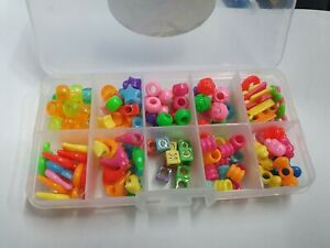 BOX OF NEW BEAUTIFUL COLOUR CHARMS RUBBER LOOM BANDS BRACELET CRAFT PENDANT DIY