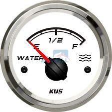 KUS Water Level Gauge Marine Boat Truck Water Tank Indicator White 52mm 0-190ohm