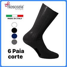 Set 6 calze corte da uomo in cotone FILO di SCOZIA calzini corti calzetti estive