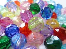 60 pce Sparkling Colour Mix Faceted Round Acrylic Beads 12mm Jewellery Making