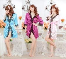 Knee Length Satin Glamour Lingerie & Nightwear for Women