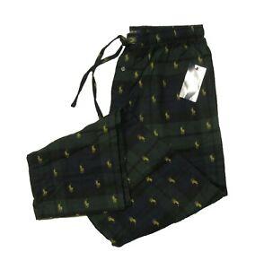 Polo Ralph Lauren Men's Blackwatch All Over Pony Logo Flannel Lounge Pants