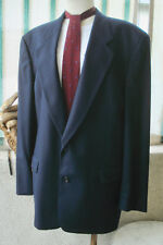 VINTAGE Men's HUGO BOSS Italian Wool 2-Button SUIT JACKET+SLACKS 42L Blue