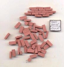 Bricks - Red -  plaster solid color exterior miniature  325pcs 1/12 scale AM0210