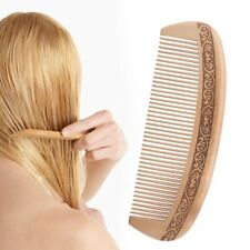 Wide Tooth Natural Peach Wood Healthy No-static Massage Hair Wooden Comb